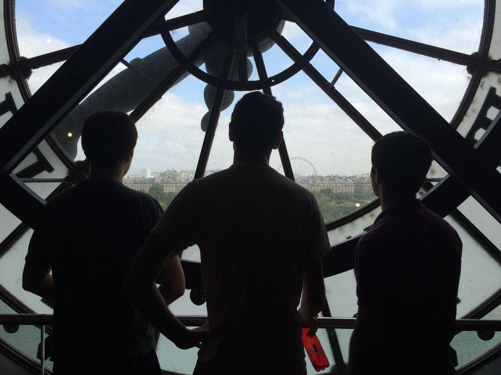 Students looking out Orsay